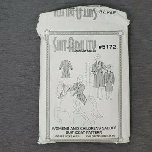 Suitability 5172 Womens Childrens Saddle Suit Coat